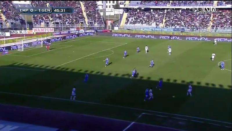 Empoli 4-3-1-2 8 ballfern vs breites Genoa